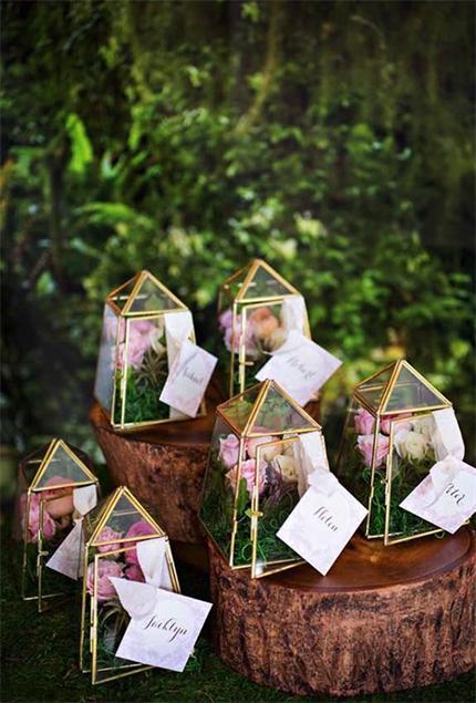 Blumenvase-Hochzeit-Idee