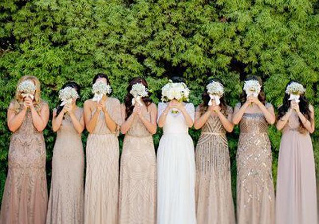 Hochzeit-Schuss-Braut-Brautjungfer