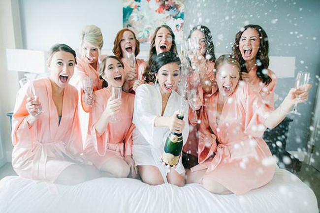 Hochzeit-Schuss-Champagner