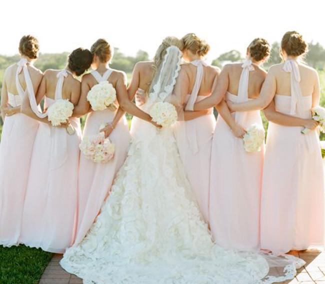 Hochzeit-Schuss-Rücken
