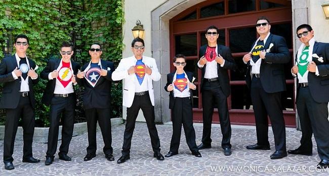 Hochzeit-Schuss-Superhero