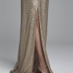 Sexy-Gold-Lang-Brautjungferkleid