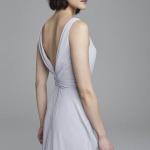 Chiffon-Rückenfrei-Brautjungferkleid