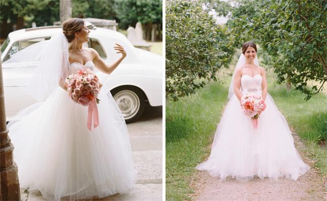 Tüll-Brautkleider-Ivory-Herz Ausschnitt