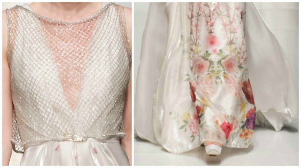 Brautkleid-Blumen