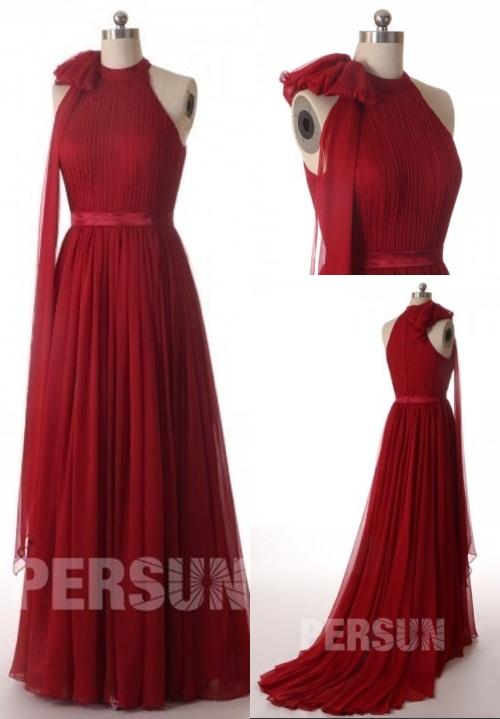 Elegant-Rot-Lang-A-Linie-Brautkleid-Abendkleid-Persunkleid.de