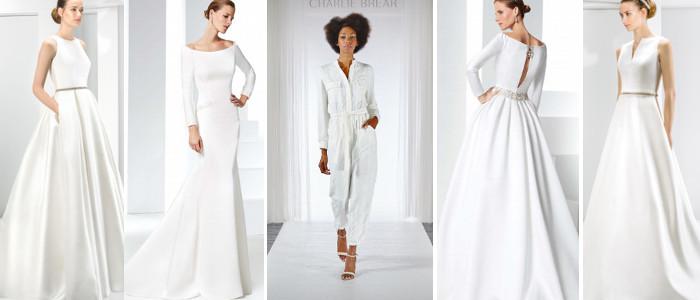 Schlichte-Brautkleider