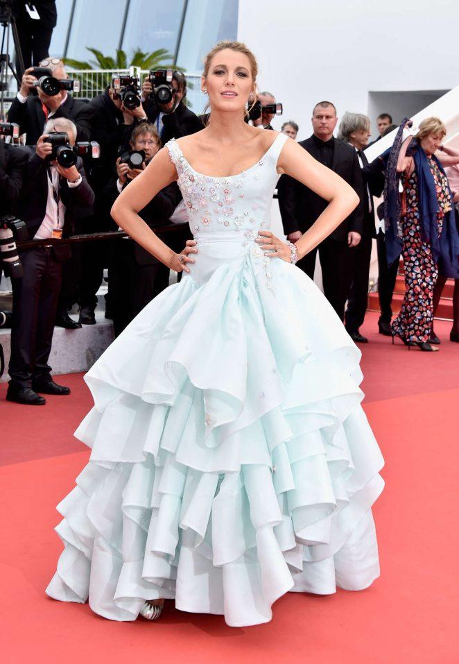 Blake-Lively-Elegant-Prinzessin-Stil-Ballkleid-Abendkleid-Schwanger