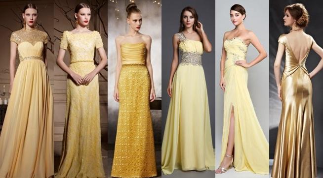 Elegant-Gelb-Abendkleid-Lang-Persunkleid-online-2017