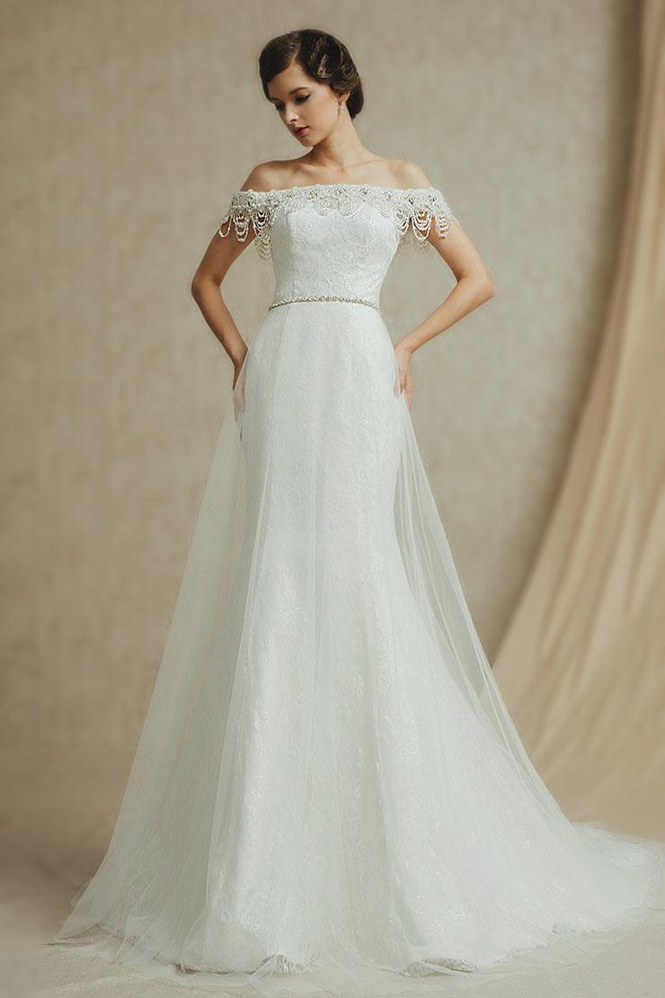 elegant klassisch schön Brautkleid