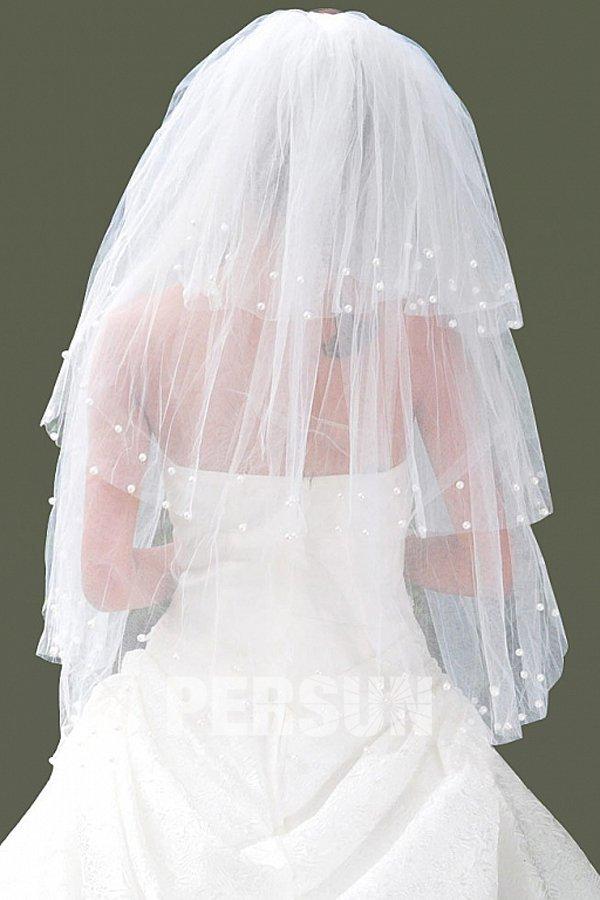 Ellbogenlanger drittschichtiger Hochzeit Schleier